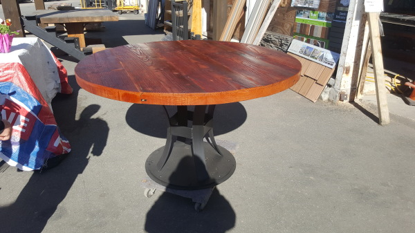 Reclaimed Doug Fir Round Table